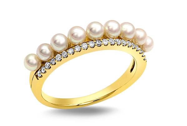 Baggins akoya pearl gold ring