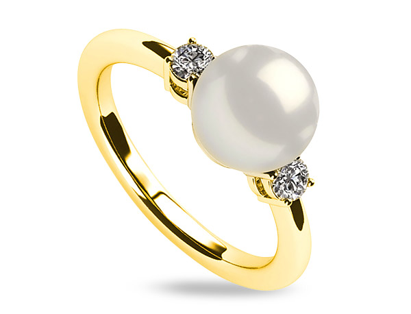 Baggins south sea pearl solitaire ring