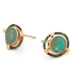 Bibi van der Velden Galaxy opal earrings