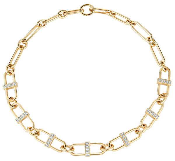 Deborah Pagani XL pill link baguette necklace