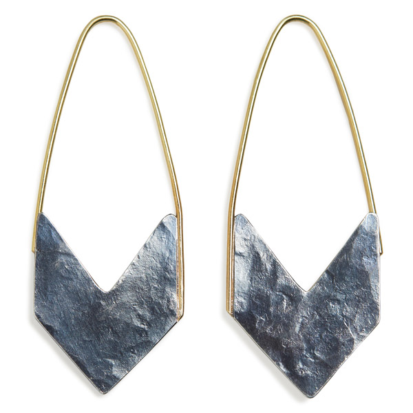 Erin DeLuca Arrow hoop earrings