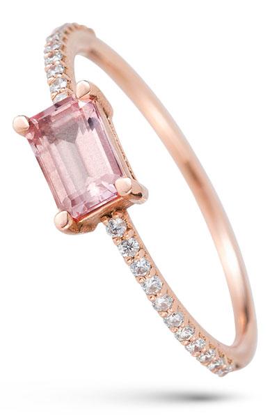 Gemist champagne sapphire ring