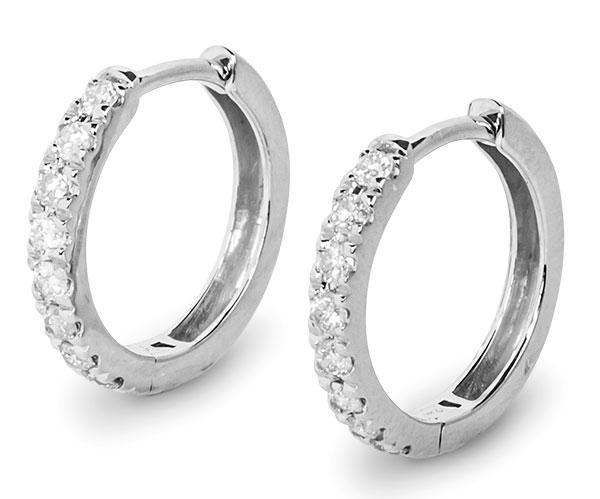 Gemist diamond hoops