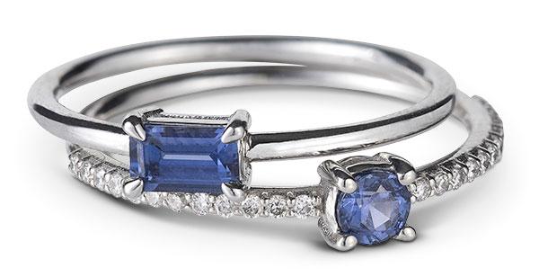 Gemist sapphire ring stack