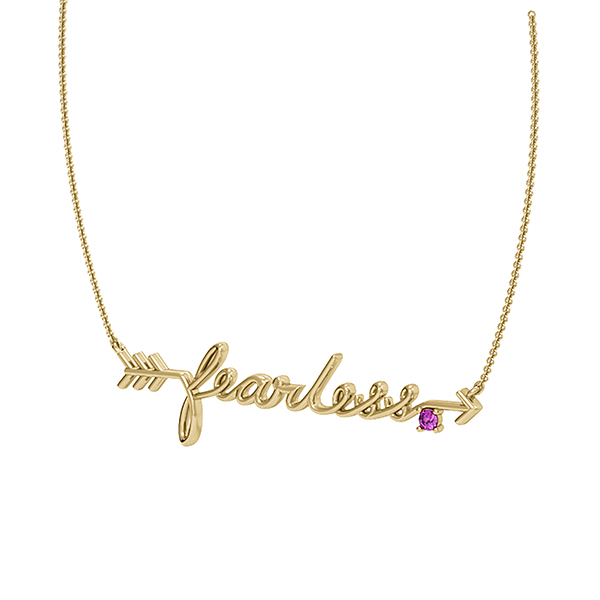 Girl Up fearless necklace