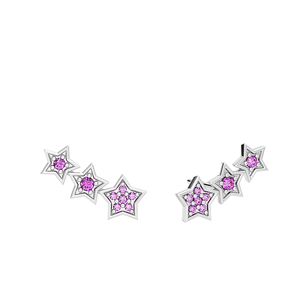 Girl Up pink star earrings