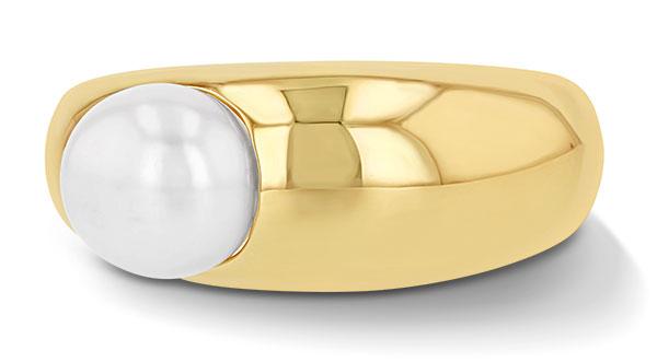 Grace Lee demi globe pearl ring