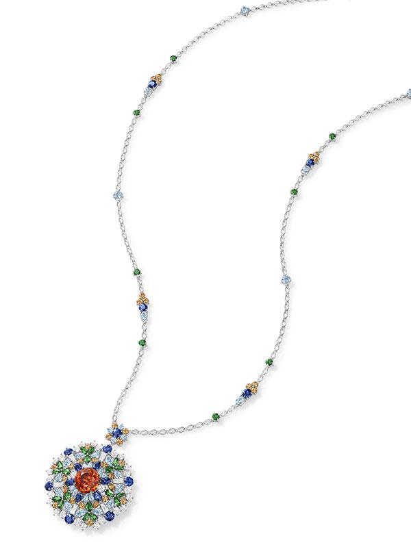 Harry Winston Kaleidoscope pendant with spessartite garnets