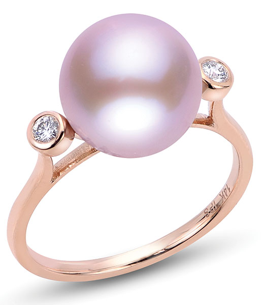 Imperial freshwater pink pearl ring