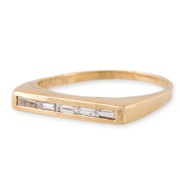 Jacquie Aiche diamond baguette ring