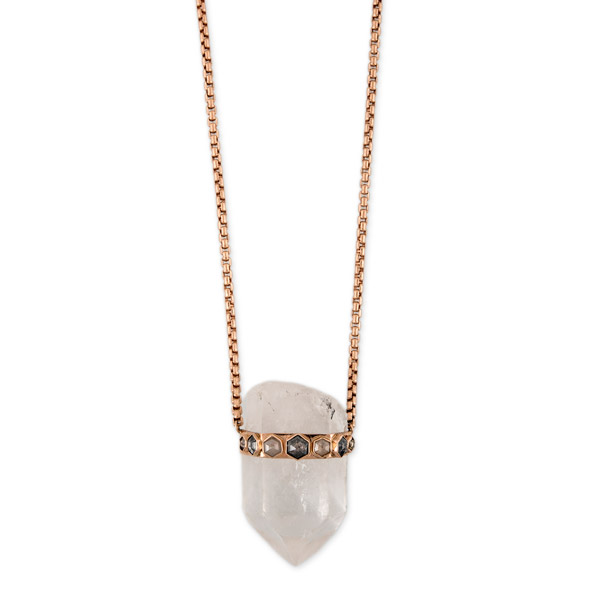 Jacquie Aiche quartz crystal necklace