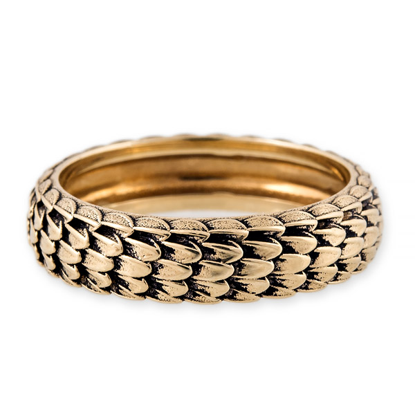 Jacquie Aiche snake skin band ring