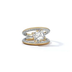 Jade Trau diamond engagement ring in yellow gold