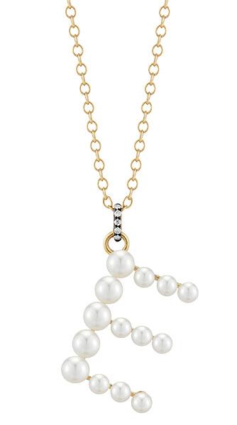Jemma Wynne prive pearl letter necklace