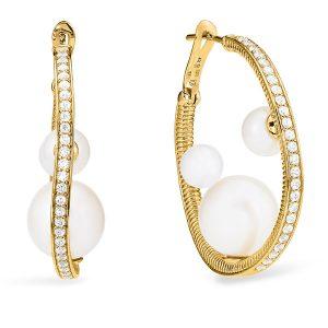 Judith Ripka Shima hoop earrings