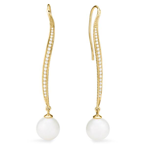 Judith Ripka Shima long drop earrings