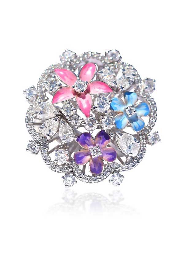 Kapes Jewelry diamond and enamel ring