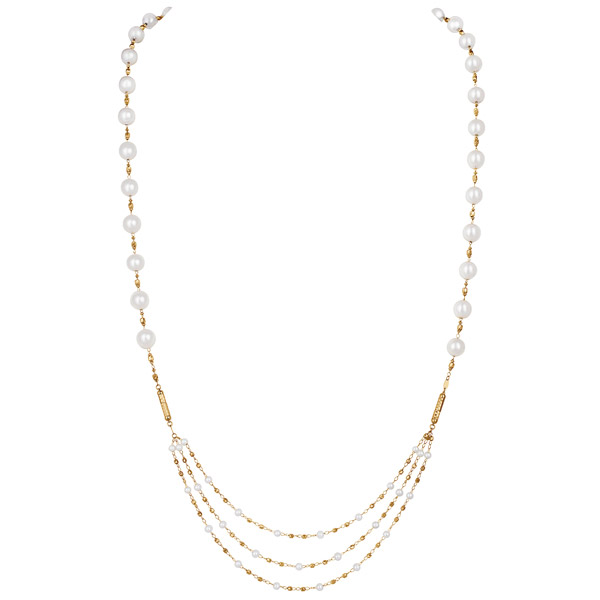 Kapes akoya pearl magnet necklace