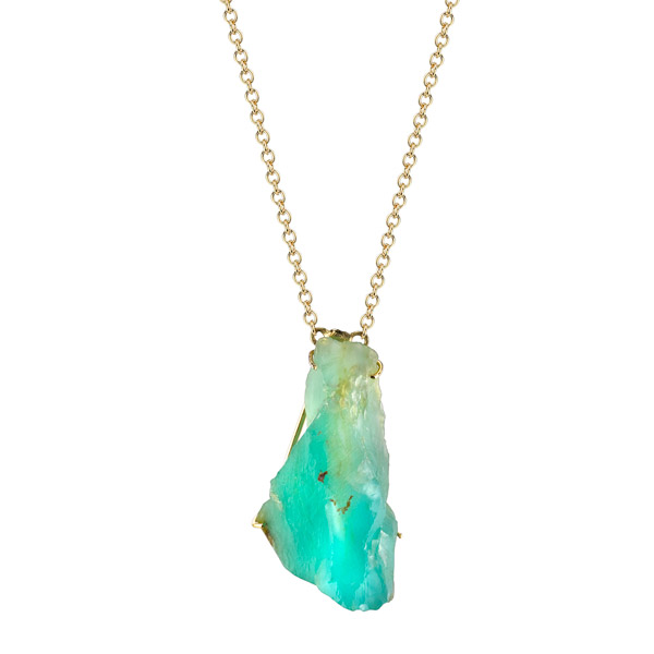 Karma El Khalil raw opal pendant