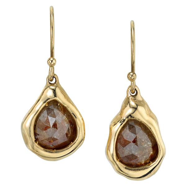 Kassandra Nicholson brown tears earrings