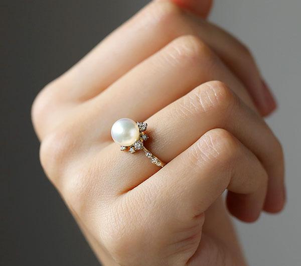 Kataoka pearl snowflake ring supreme