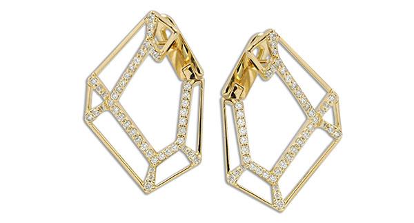 Kavant & Sharart Outline diamond hoop earrings