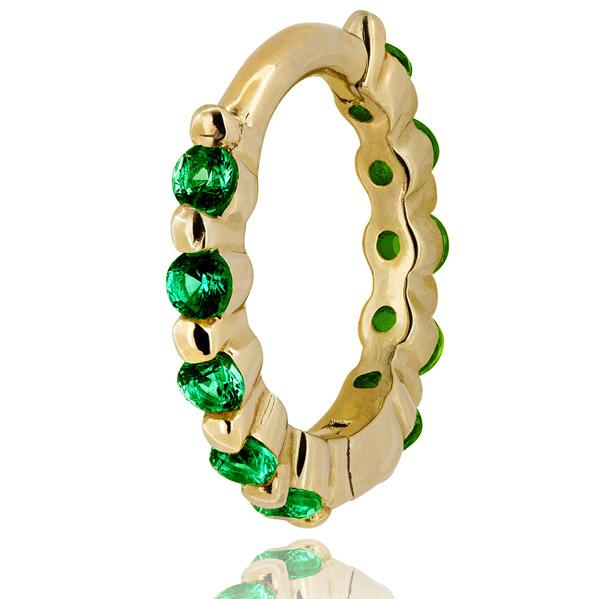 Lark and Berry Modernist emerald hoop