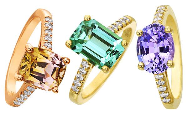 Lauren K pastel rings