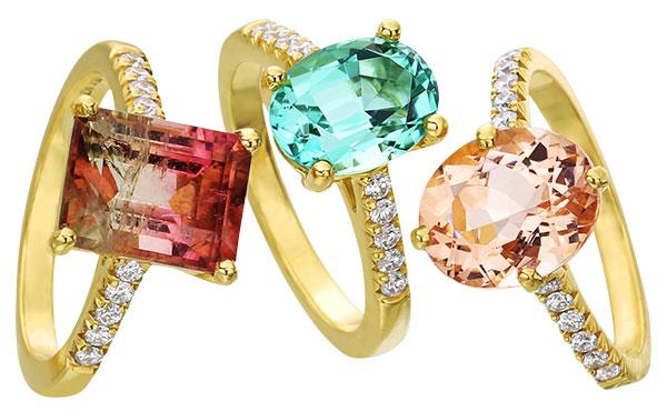 Lauren K pastel ring trio