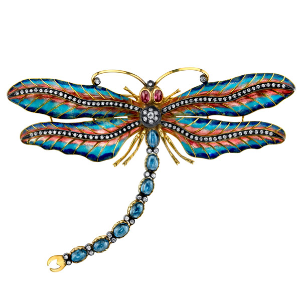 Lord Jewelry Majestic dragonfly brooch