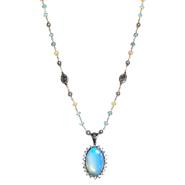 Melinda Lawton Ethiopian opal pendant