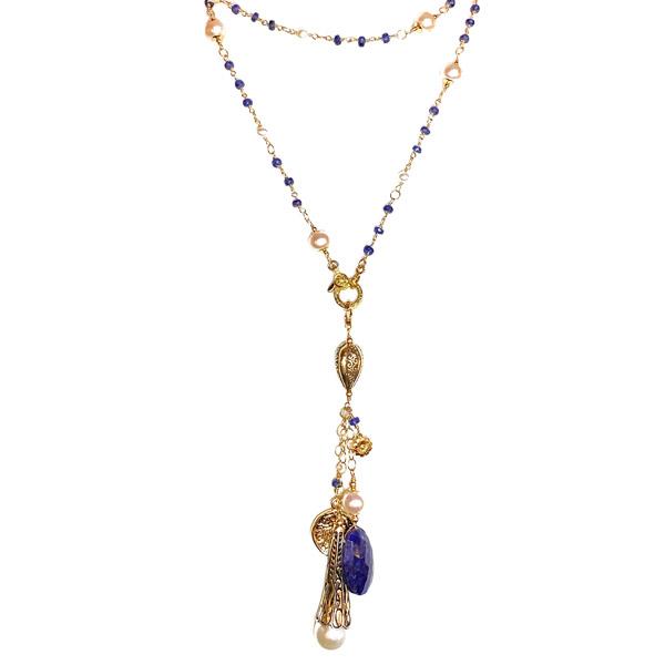 Melinda Lawton lariat pearl sapphire