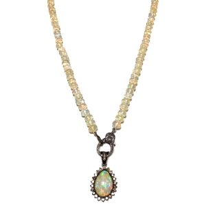 Melinda Lawton opal teardrop pendant
