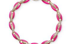 Melissa Kaye Ada bracelet in 18k pink gold with diamonds and enamel