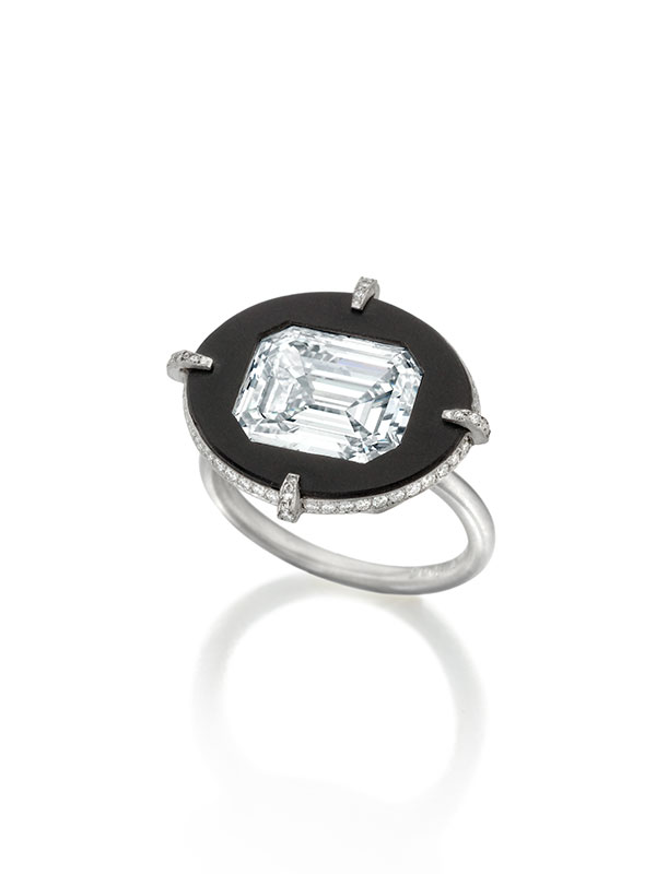 Nicholas Lieou for Sotheby's Reishi disk diamond ring