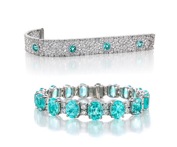 Oscar Heyman Paraiba bracelets