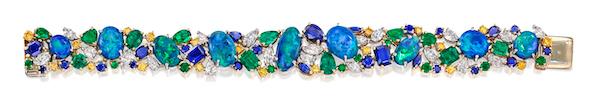 Oscar Heyman emerald and sapphire bracelet