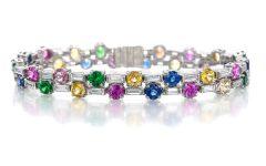 Oscar Heyman multi gemstone bracelet