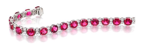 Oscar Heyman rubellite bracelet