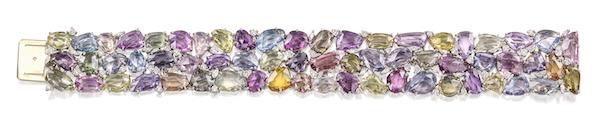 Oscar Heyman sapphire and diamond bracelet