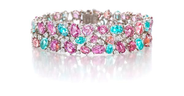 Oscar Heyman paraiba and padparadscha bracelet