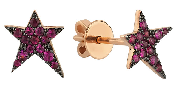 Own Your Story ruby star earrings
