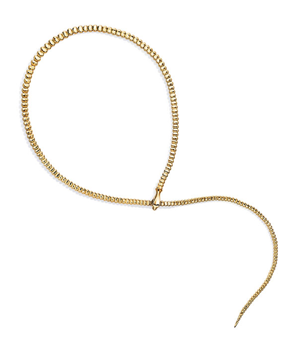 Peretti gold bead necklace