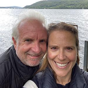 Rebecca Moskal and husband