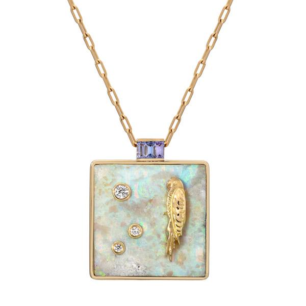 Retrouvai opal pendant