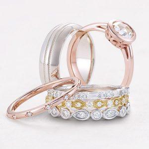 Stuller stacking wedding rings