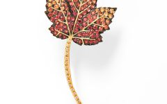 Tiina Smith leaf brooch