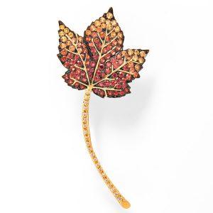 Tiina Smith leaf brooch