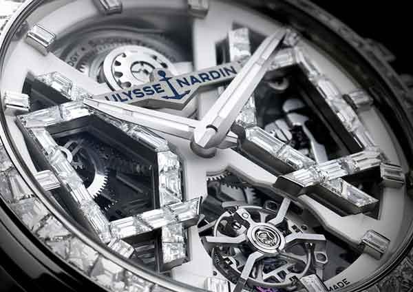 Ulysse Nardin Sparkling Blast watch close up