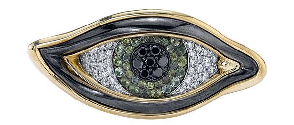 Vram eye of chrona colored sapphire ring